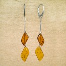 SY earrings with 2 cognac details #02