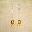SY earrings with 2 mix color plums