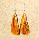 L free form cognac earrings #02
