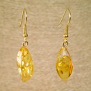 Twisted lemon earrings #01