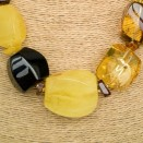 XL mix natural amber fragments necklace #02