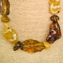 XL multicolor free form copal necklace #01