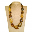 XL multicolor free form copal necklace #02