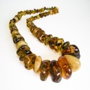 XL multicolor nuggets copal necklace #01