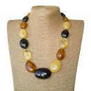 XL oval mix statement necklace