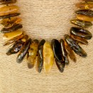 XL raw multicolor long copal necklace #01