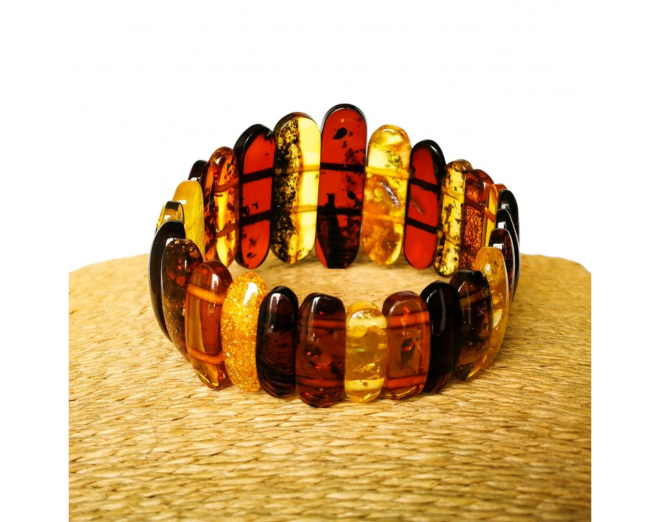 Earth colors classic natural amber bracelet