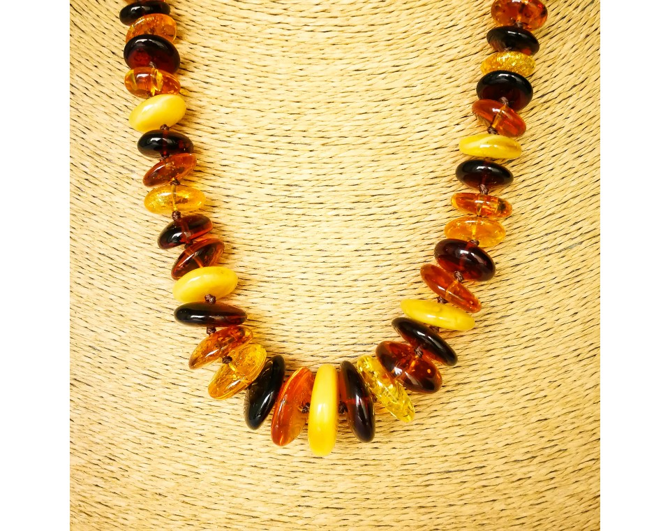 L mix long nuggets necklace