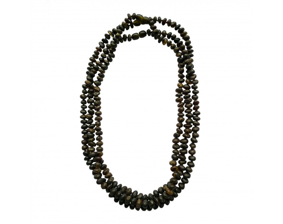 3 pcs of dark amber baroque necklaces