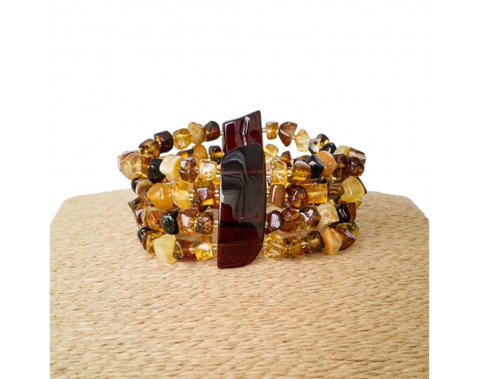 4 strings multicolor beads bracelet