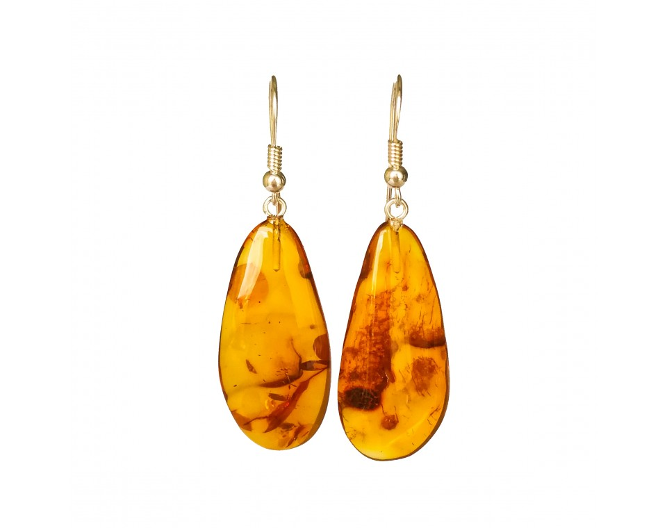 M free form cognac earrings #10