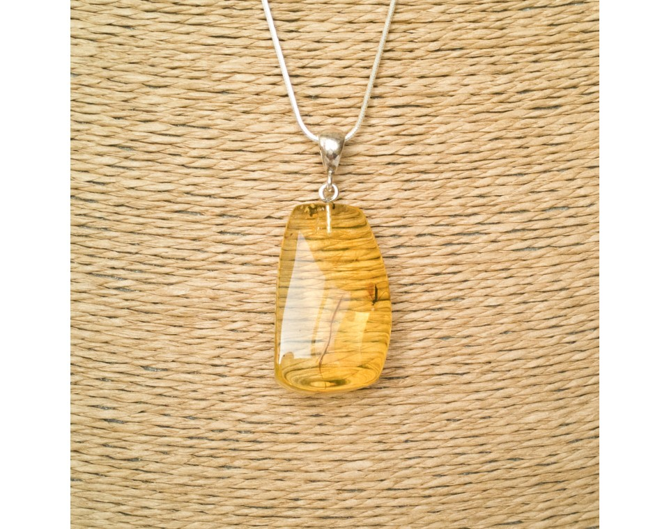 Amber pendant with inclussions #01