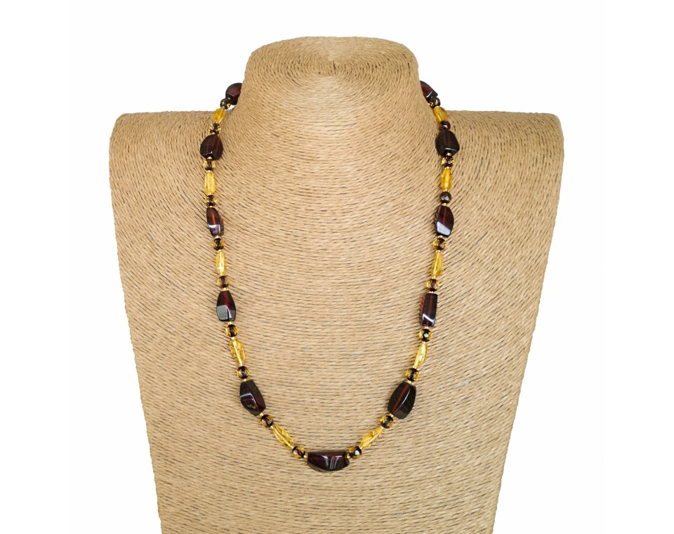 Cherry fragments x yellow necklace