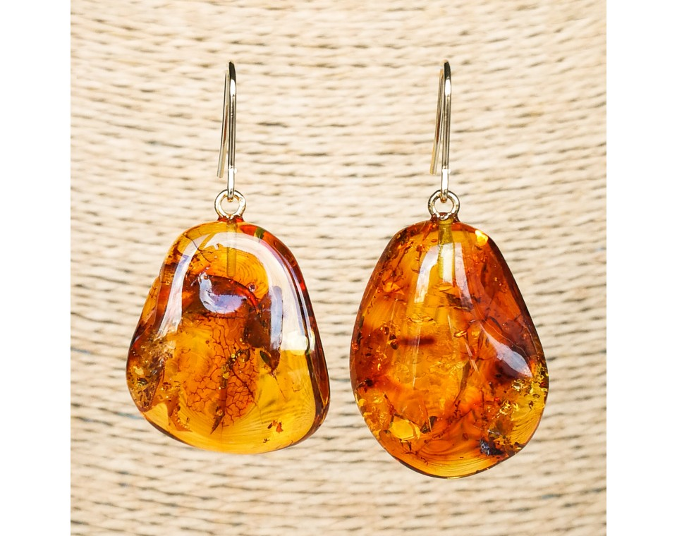 M free form cognac earrings #11