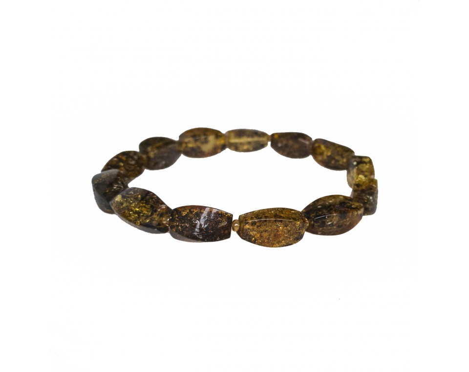 Dark green fragments bracelet