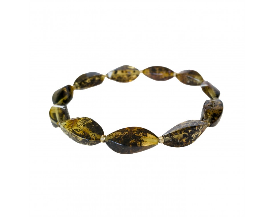 Dark green twisted bracelet