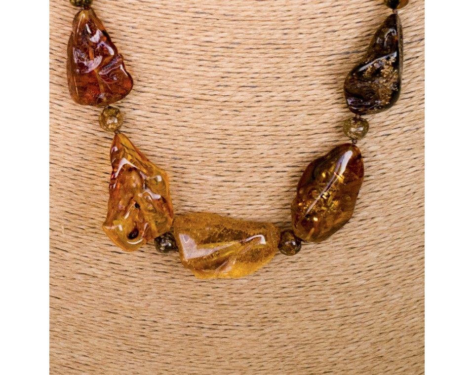 L extra long free form mix necklace