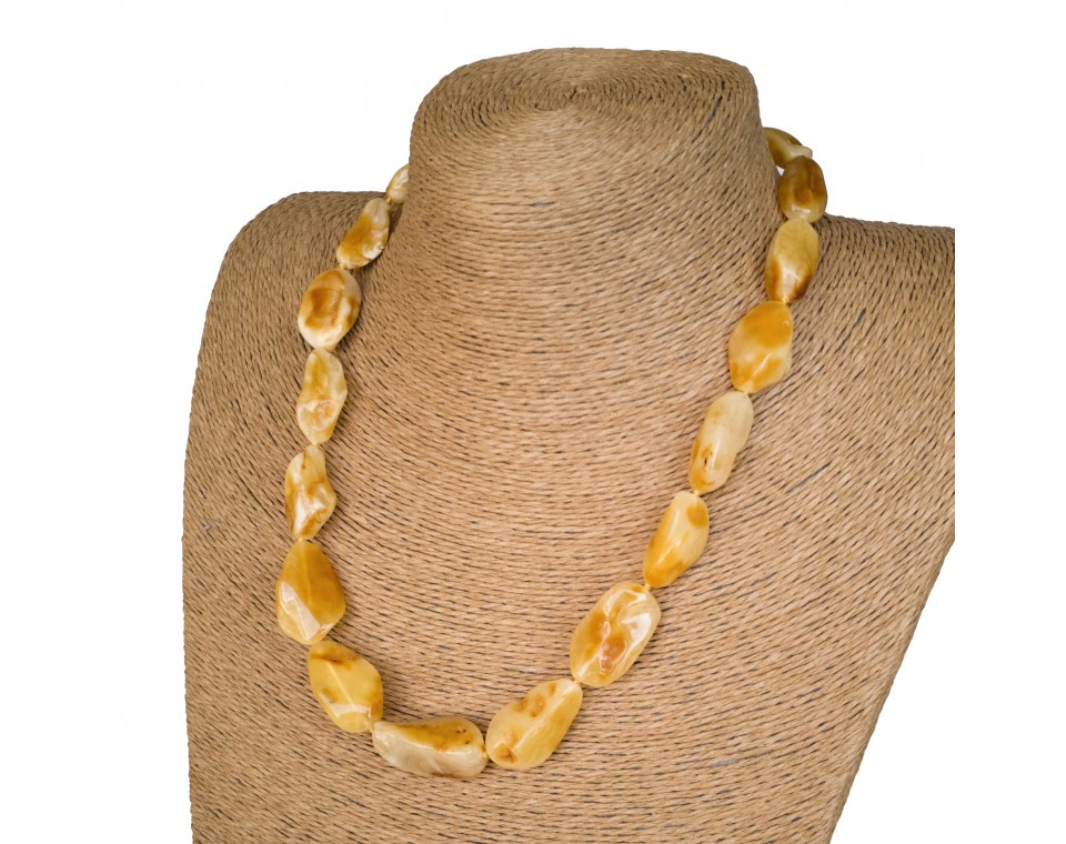 L white x yellow free form necklace