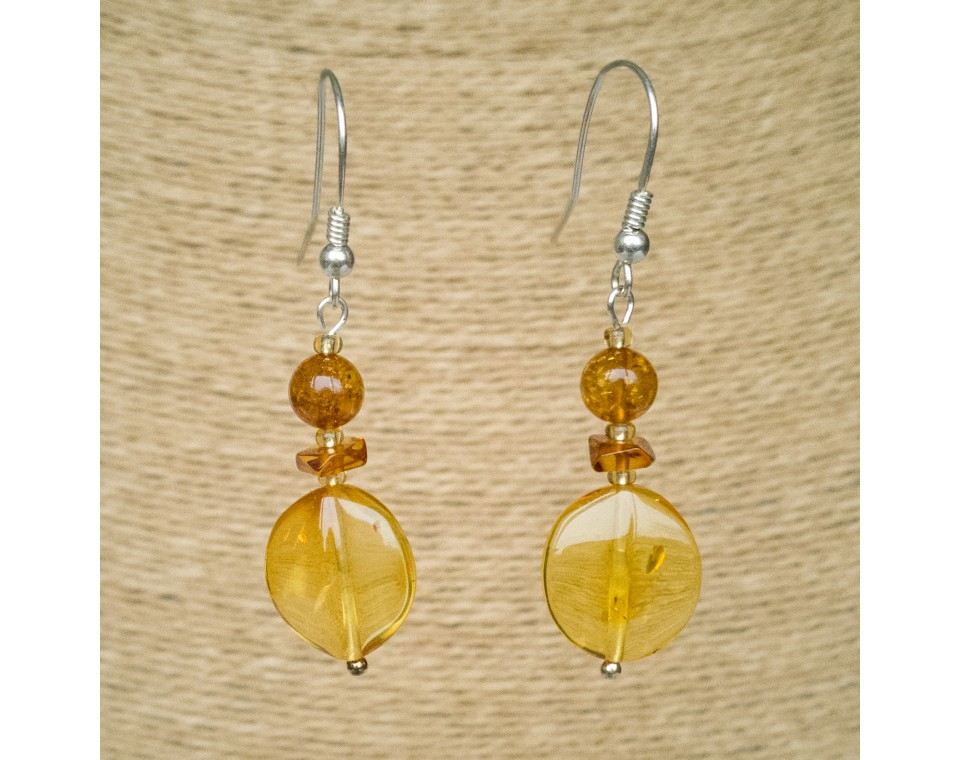 Lemon round earrings #02