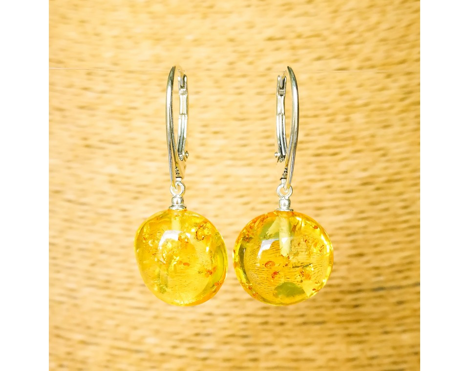 Lemon plums earrings