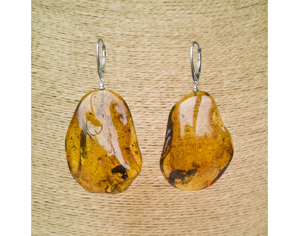 M free form matt earrings #01
