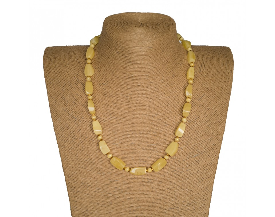M matt fragments x round beads necklace