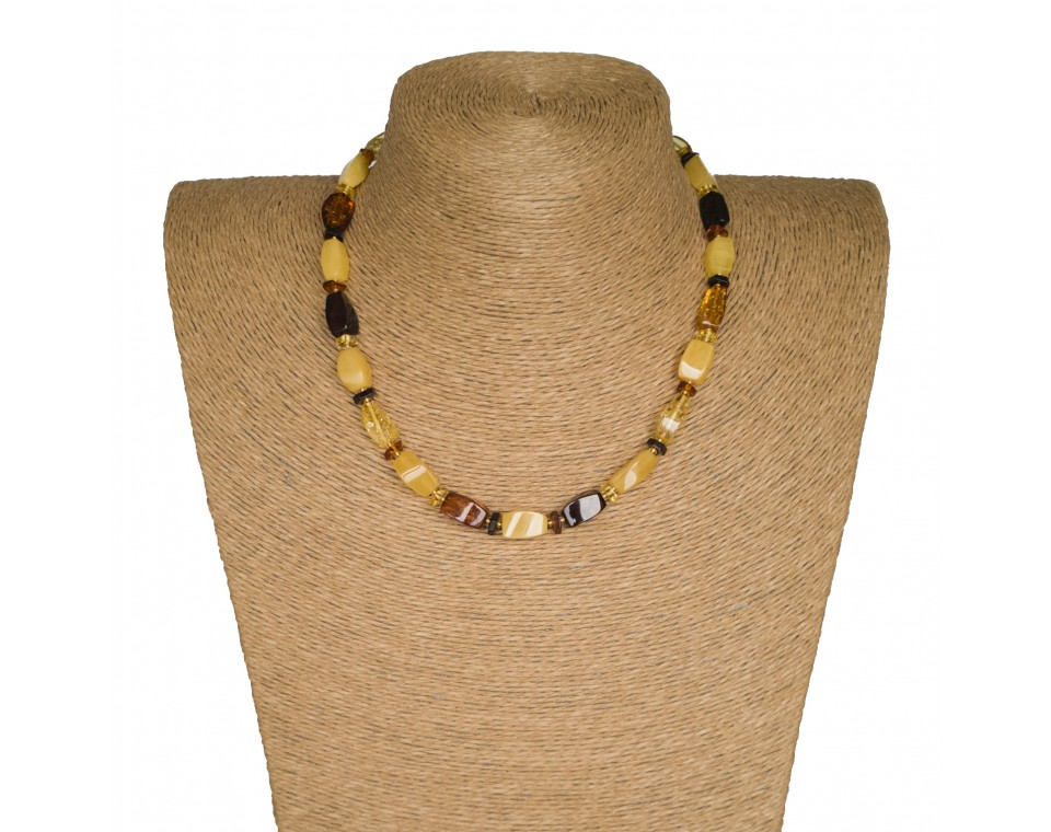 M more yellow x mix fragments short necklace