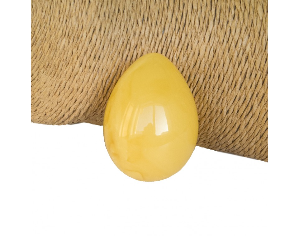 Matt color natural amber egg souvenir