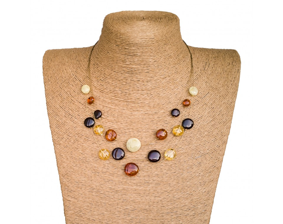 Mix round wire necklace