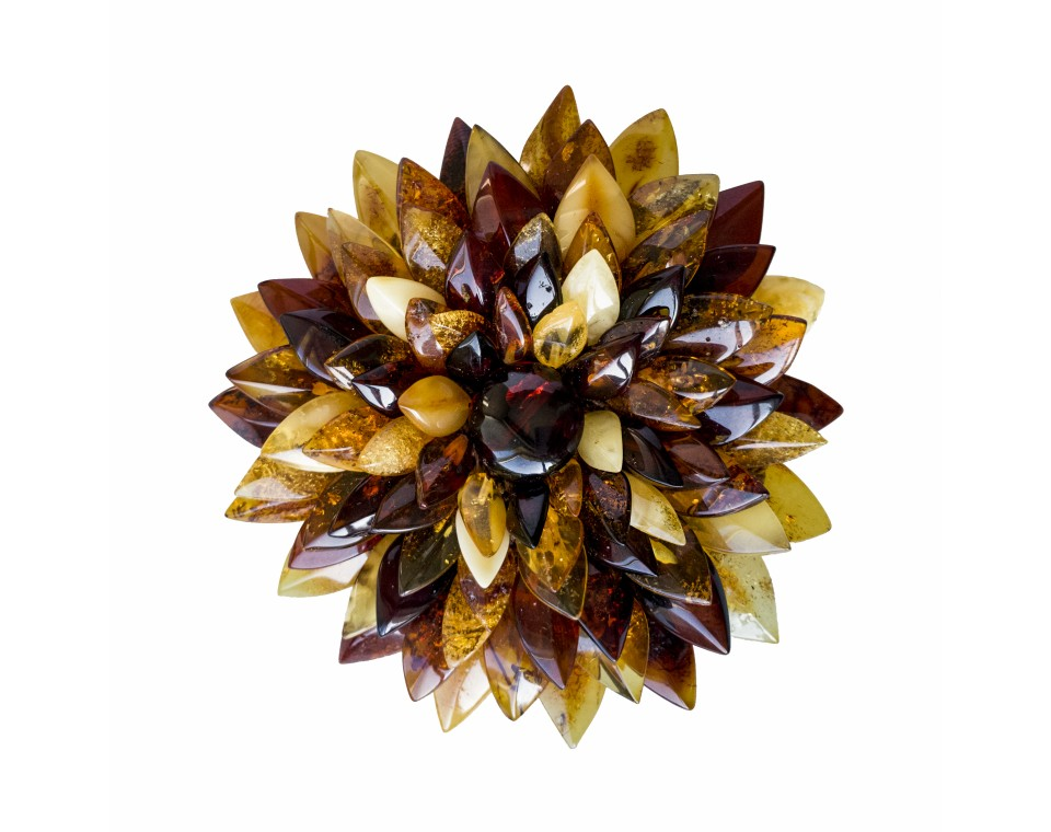 Mix x matt dahlia brooch