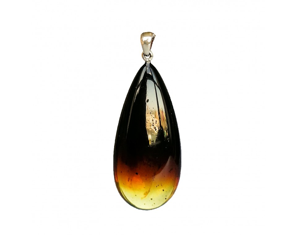 Natural amber cherry color drop pendant #03