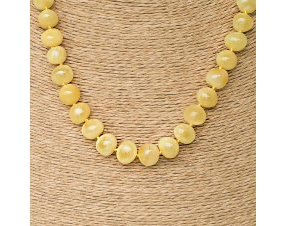 S matt baroque necklace
