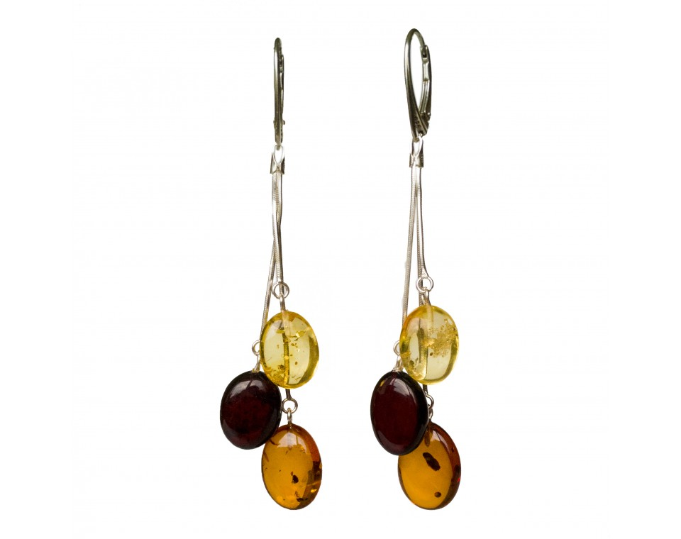 SY earrings with 2 mix color plums #02