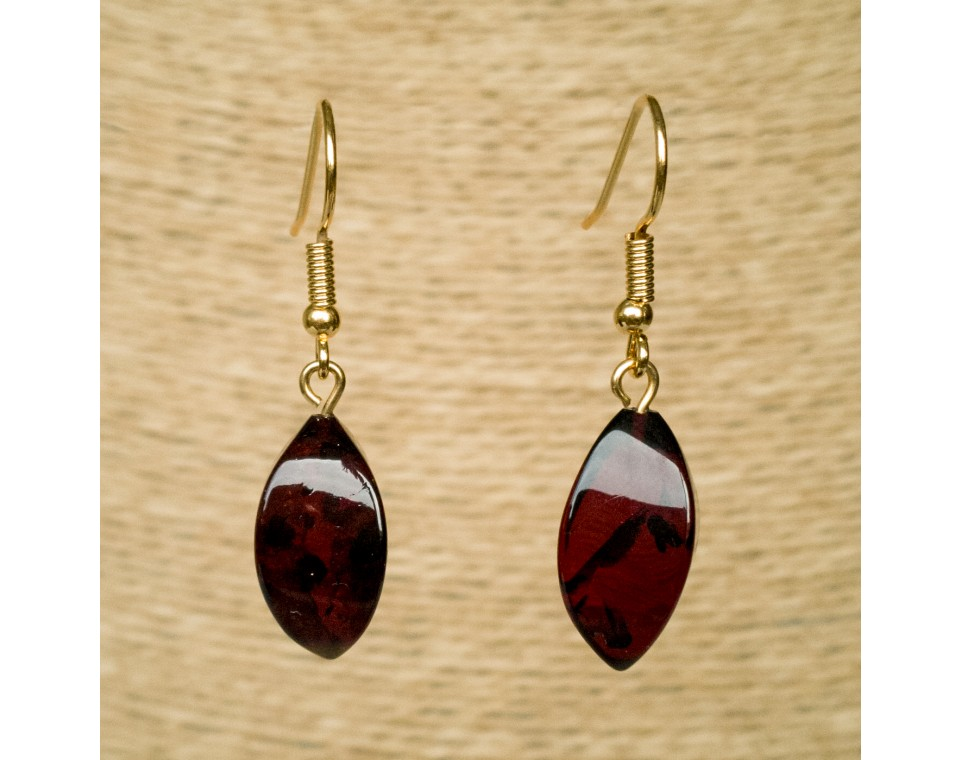 Twisted cherry earrings #01