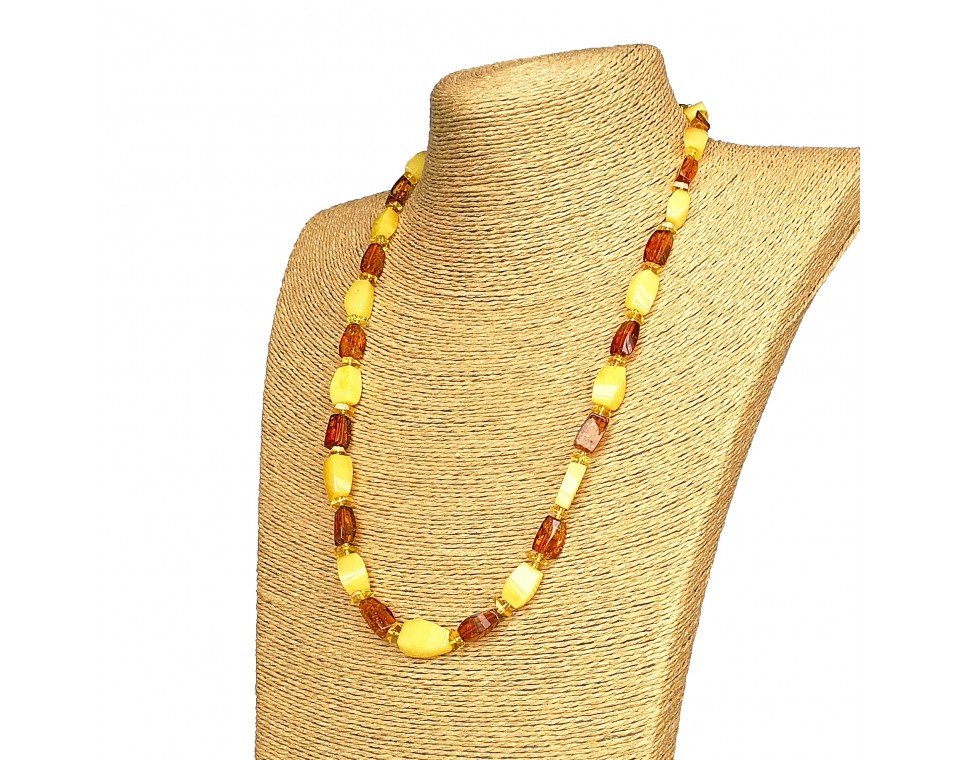 M matt x cognac fragments long necklace