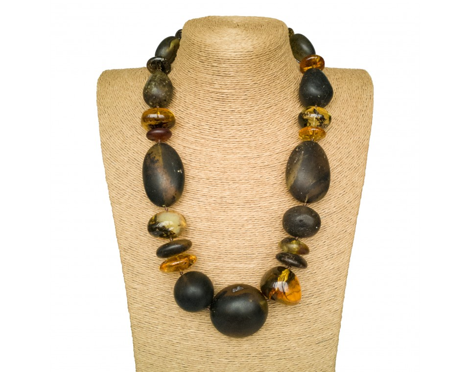 XL natural frozen amber necklace
