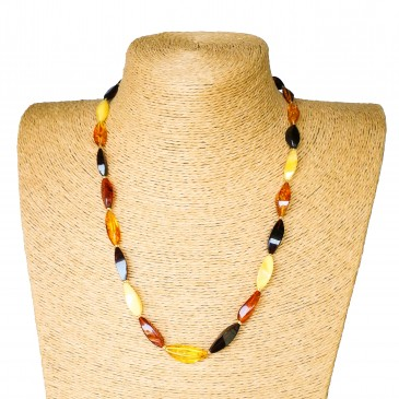 L twisted mix statement necklace