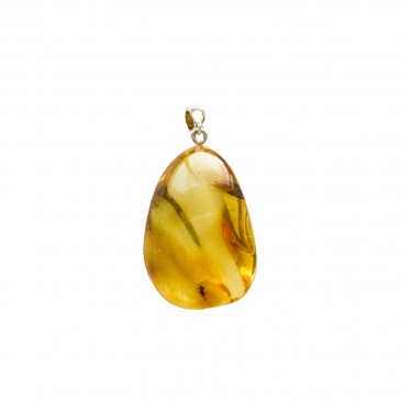 Amber pendant with inclussions #07