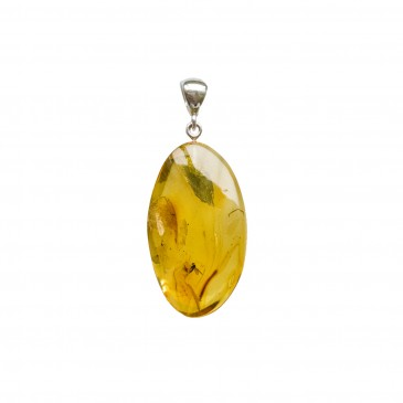 Amber pendant with inclussions #23