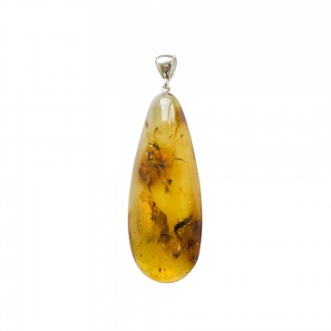 Amber pendant with inclussions #34