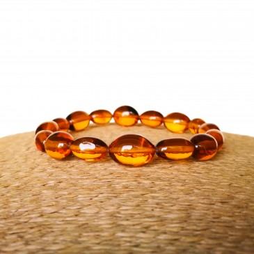 Copal cognac color olives bracelet #01