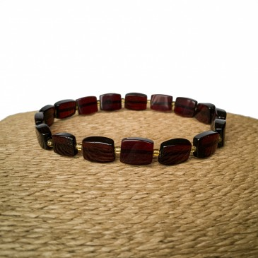 Natural amber cherry color bricks bracelet