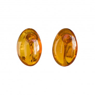 Cognac clips earrings