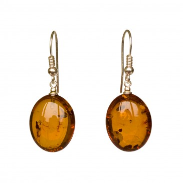 Cognac plums earrings #06