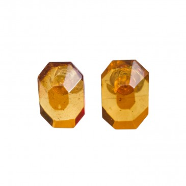 Cognac post earrings #01
