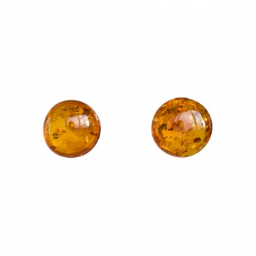 Cognac post earrings #03