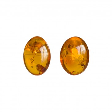Cognac post earrings #05