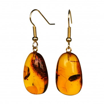 M free form cognac earrings #09