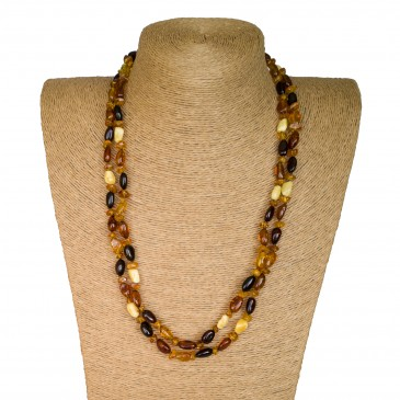 L extra long mix beads necklace