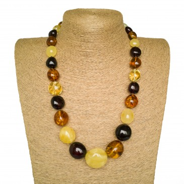 L multicolor nuggets necklace